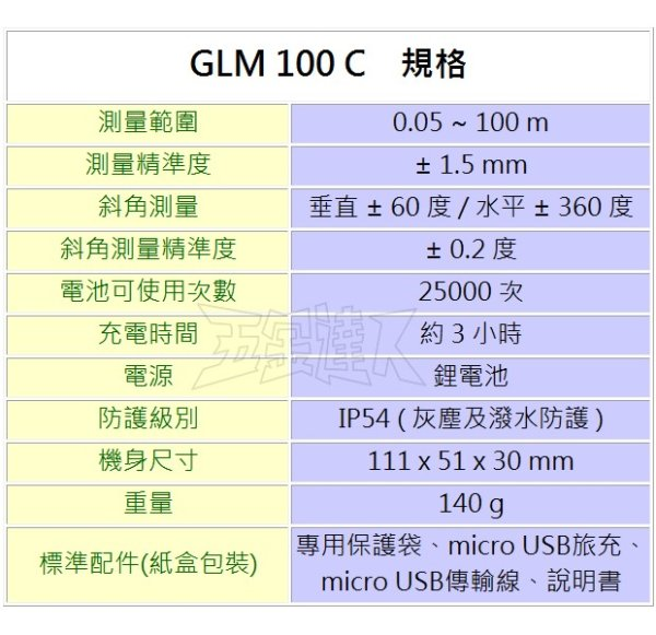 GLM100C 2,五金工具,測距儀
