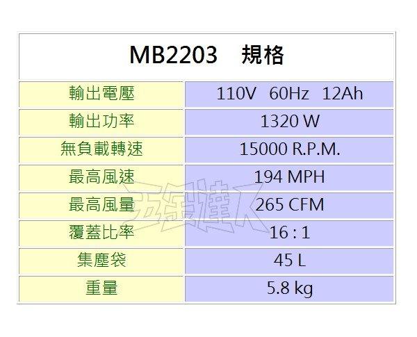 MB2203規格,五金工具,鼓風機