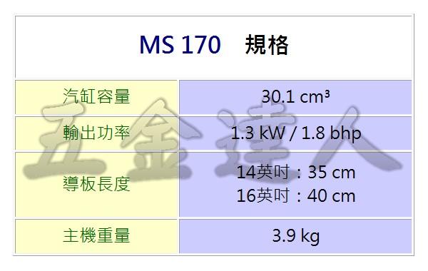 MS170規格,五金工具,鏈鋸機