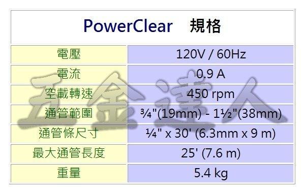 PowerClear規格,五金工具,通管機