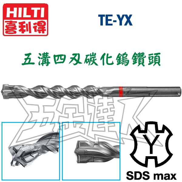 TE-YX 1,五溝鑽頭,五金工具