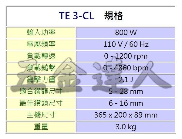 TE3-CL規格,五金工具,鎚鑽