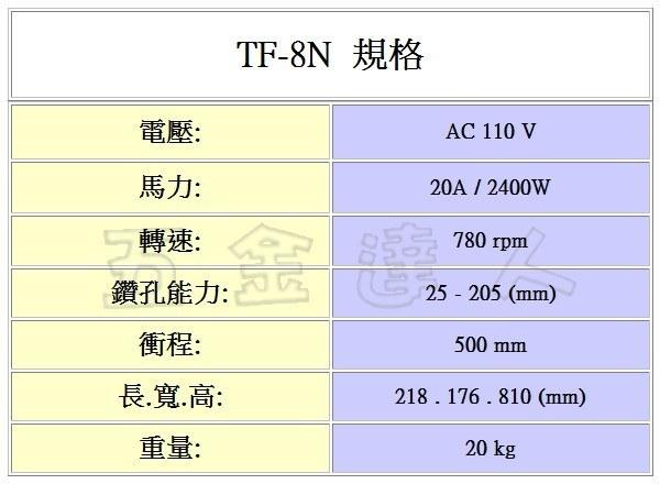 TF-8N規格,五金工具,鑽孔機