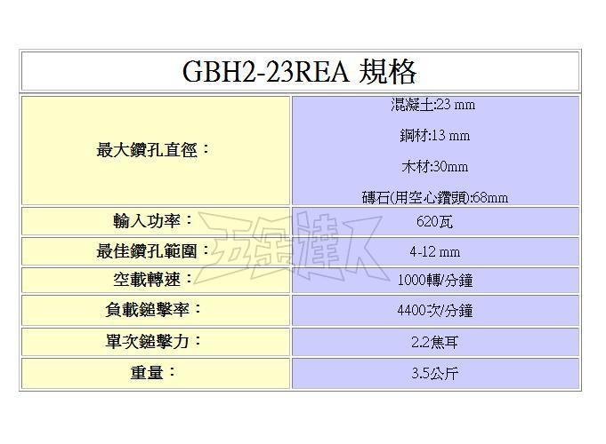 GBH2-23REA 2,鎚鑚,五金工具