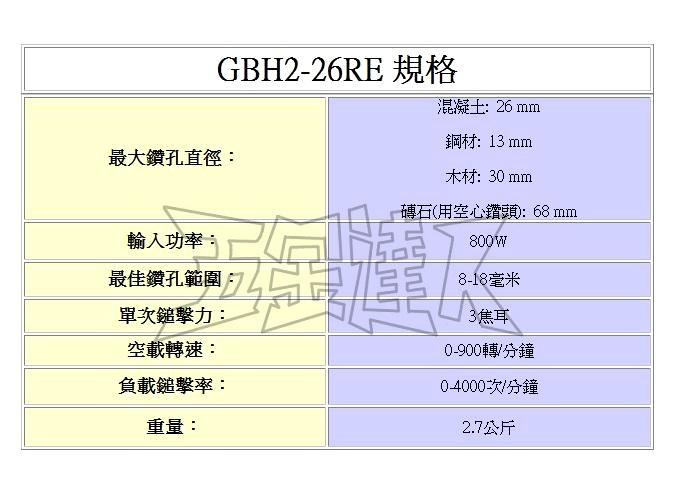GBH2-26RE 2,鎚鑚,五金工具