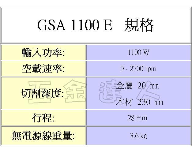 GSA1100E 2,軍刀鋸,五金工具