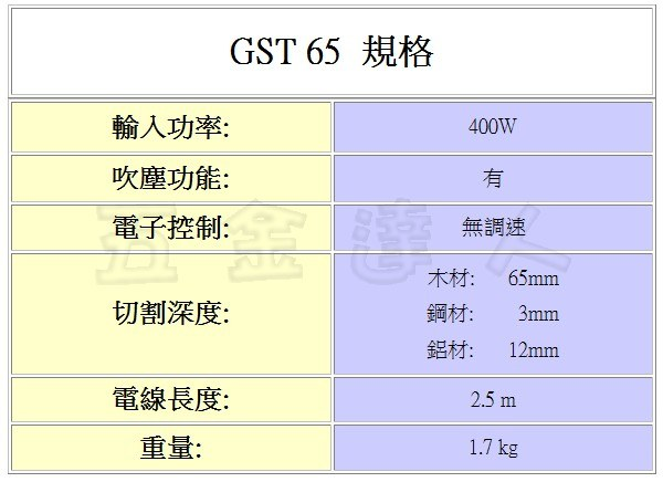 GST65 2,線鋸機,五金工具