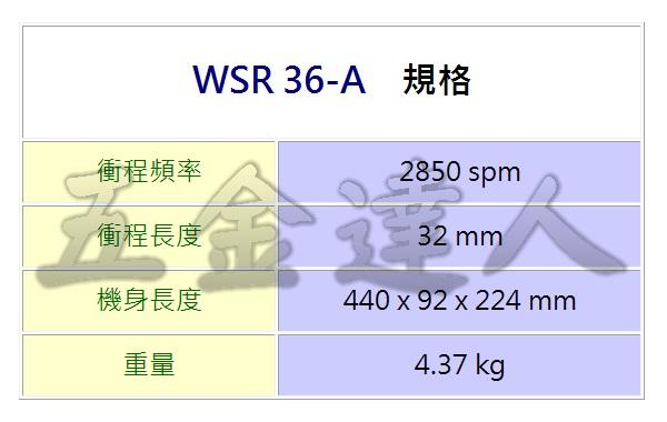 WSR36-A 2,充電軍刀鋸,五金工具