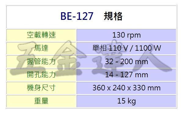 """BE-127 2,5""""管道開孔機,五金工具"""