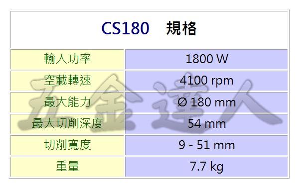 """CS180 3,7""""切溝機,五金工具"""