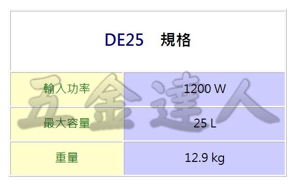 DE25 2,乾溼兩用連動吸塵器,五金工具